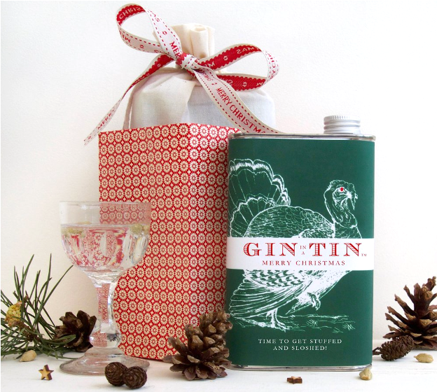 Christmas Gin in a Tin