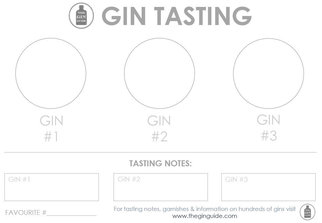 graphic about Printable Placemats Templates identified as Printable Gin Tasting Placemats How in the direction of Operate a Gin Tasting