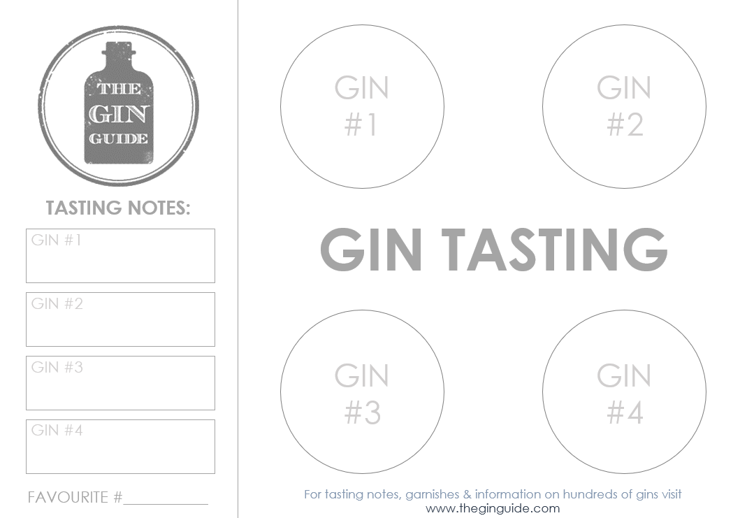 photograph about Printable Placemat Templates titled Printable Gin Tasting Placemats How in direction of Work a Gin Tasting